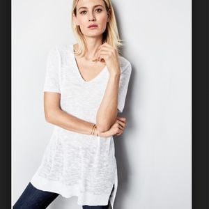 Eileen Fisher Slubbed Linen Cotton high low Tunic